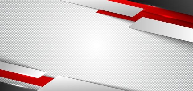 Banner webontwerp rode en witte geometrische witte achtergrond