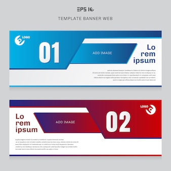 Banner websjabloon l