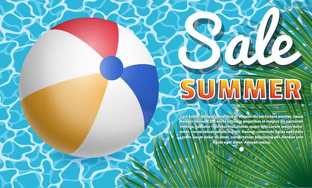 Banner zomer verkoop.