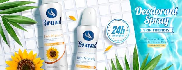Banneradvertenties voor deodorantspray