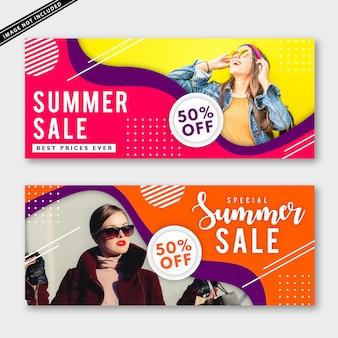 Bannercollectie zomerverkoop