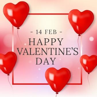 Bannergroet van de dag van de valentijnskaart