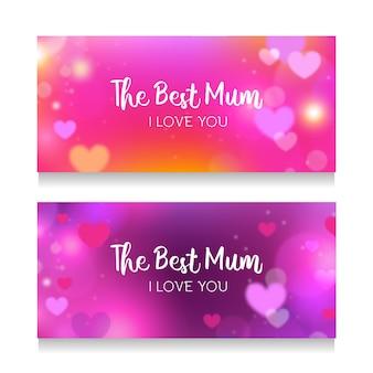 Bannermalplaatje met het concept van de moedersdag