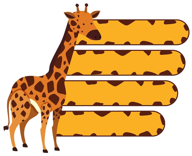 Bannermalplaatje met wilde giraf