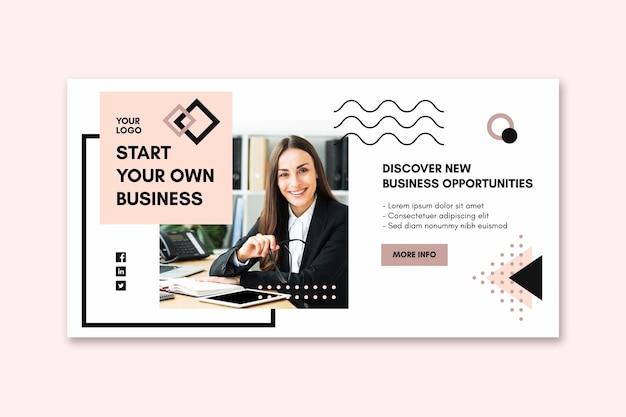 Bannermalplaatje voor zakenvrouw