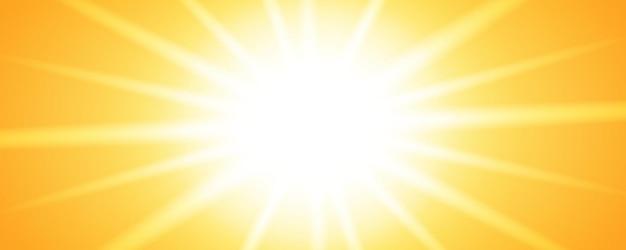 Bannerontwerp met glanzende zonlicht
