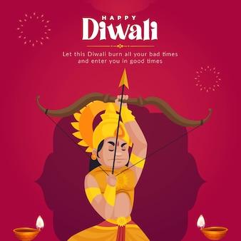 Bannerontwerp van gelukkige diwali-sjabloon