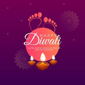 Bannerontwerp van happy diwali indian festival-sjabloon