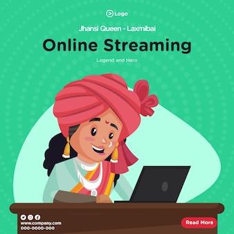 Bannerontwerp van koningin van jhansi laxmibai online streaming-sjabloon