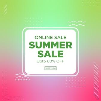 Bannerontwerp van online zomeruitverkoop