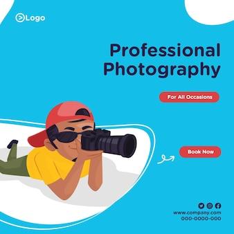 Bannerontwerp van professionele fotografie voor alle gelegenheden