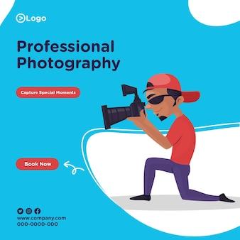 Bannerontwerp van professionele fotografie