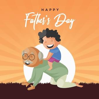 Bannerontwerp van sjabloon voor gelukkige vaders