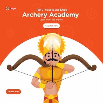 Bannerontwerp van take your best shot archery academy, leer van de experts