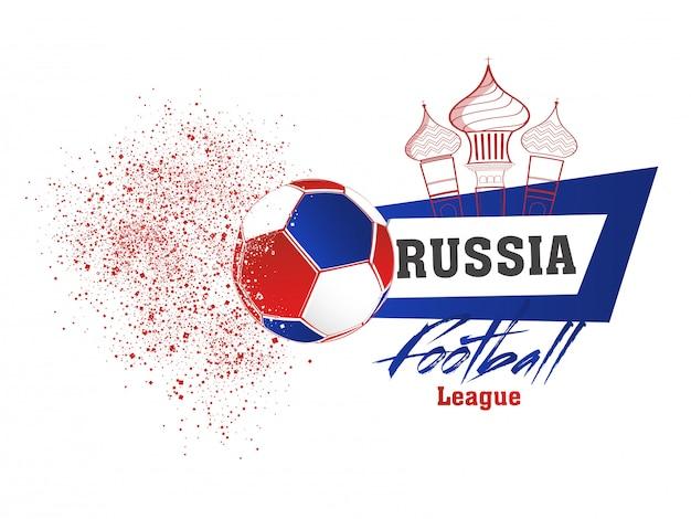 Bannerontwerp voor de voetbalcompetitie van rusland.
