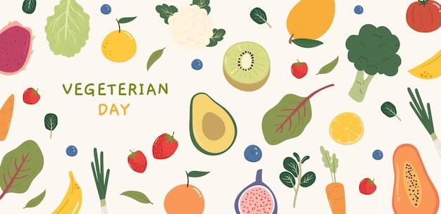 Bannerontwerp voor een vegetarische dag
