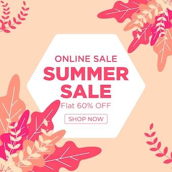 Bannerontwerp voor online zomerverkoop