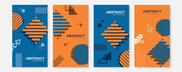 Bannerontwerpsjablonen in eenvoudige moderne stijl met kopieerruimte