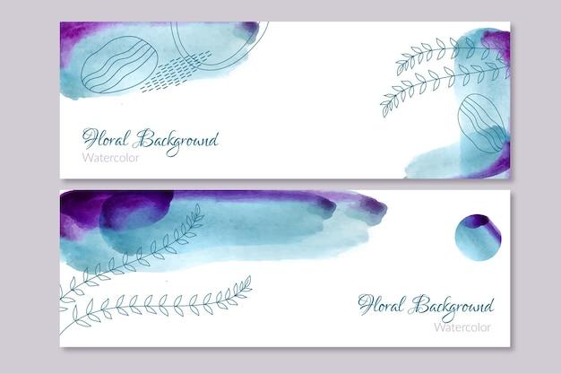 Banners in aquarel handgetekende stijl