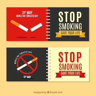 Banners met anti-roken berichten