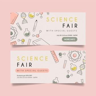 Banners ontwerpen voor wetenschapsbeurs