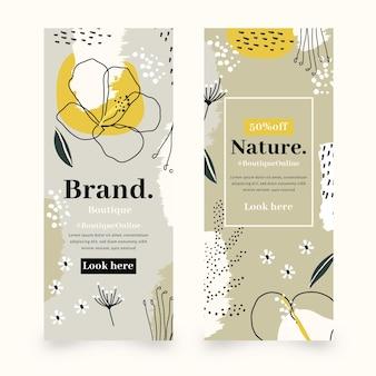 Banners ontwerpt concept