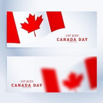 Banners set van de dag van canada