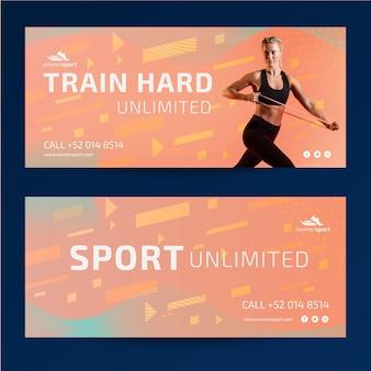 Banners sjabloon voor gym fitness