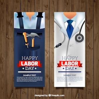 Banners van beroepen