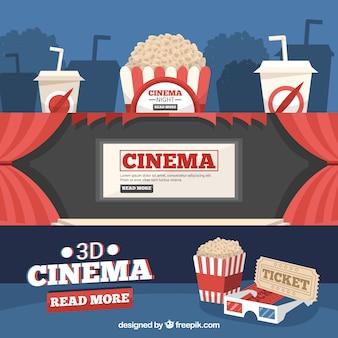 Banners van de cinema elementen set