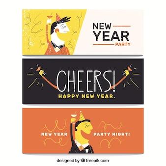 Banners van het nieuwe jaar partij