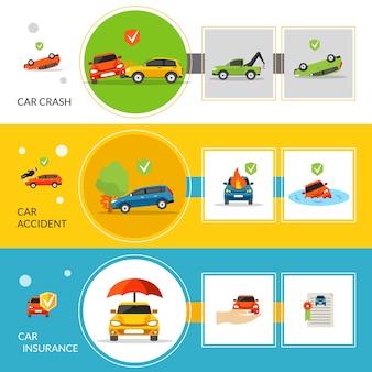 Banners voor autoverzekeringen