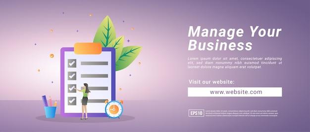 Banners voor bedrijfsbeheer, opleiding tot bedrijfsbeheer. banners voor promotiemedia