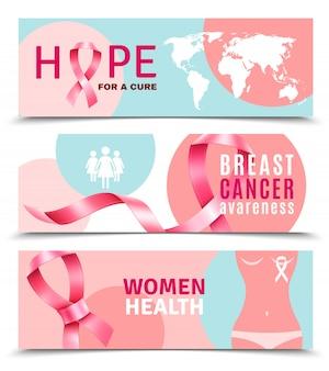 Banners voor borstkanker