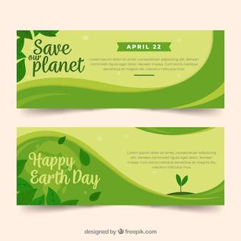 Banners voor de aardedag