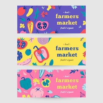 Banners voor de landbouwmarkt