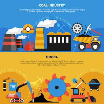 Banners voor de mijnbouw