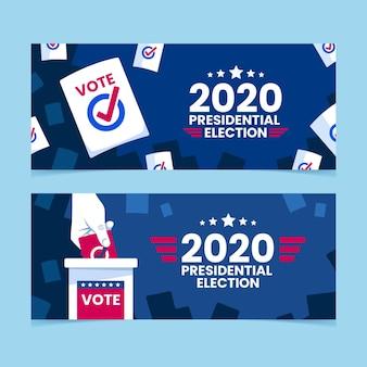 Banners voor de presidentsverkiezingen van 2020