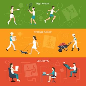 Banners voor fysieke activiteit