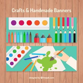 Banners voor kunstambachten