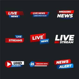 Banners voor live stream nieuws