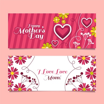 Banners voor moederdag