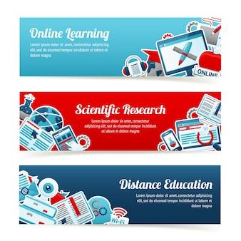 Banners voor online onderwijs