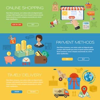 Banners voor online winkelen