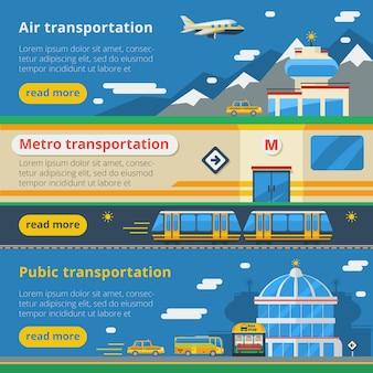 Banners voor passagiersvervoer