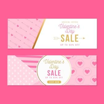 Banners voor valentijnsdag verkoop
