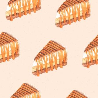 Banoffee cake naadloos patroon