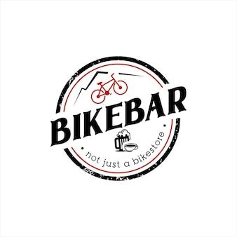 Bar logo design fiets bier vector