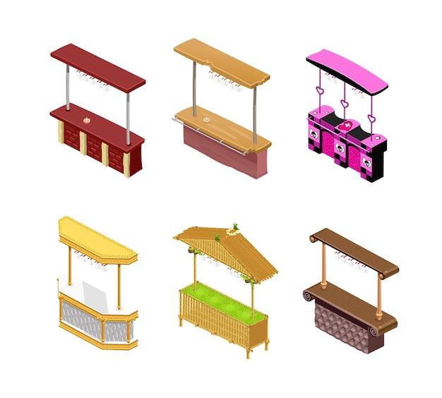 Bar tellers in isometrische geïsoleerd. illustratie
