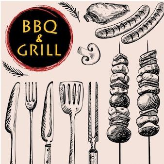 Barbecue achtergrond ontwerp